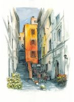 Alley in Rome by popChar