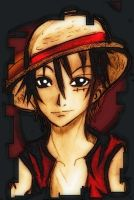luffy by KawaiiDarkAngel