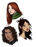 Character Studies in color by FlatAsABird