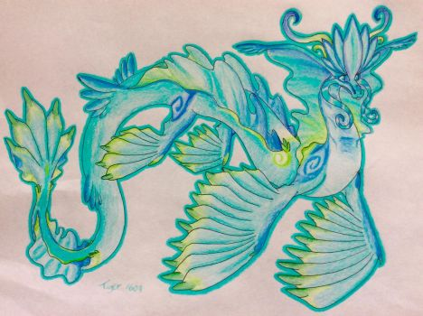 Turquoise sea Dragon by Tiger1609