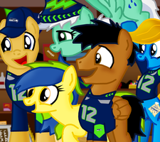 Seaddle Seahawks and the 12th Colt (MLP:FiM) by AJMSTUDIOS