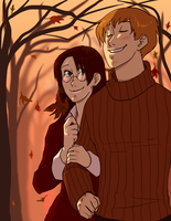 Autumn Date by hyperionwitch