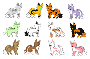 Fennec Kitsune Adopts (CLOSED) by Backup-At-Midnight
