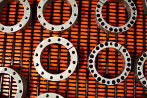 Metal Rings Orange Abstract by Moon-WillowStock