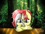 Middy and her little Starline by Nicopaoli
