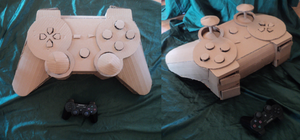 Cardboard PS3 Controller by Exile-wolfy