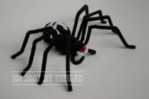 Pipe cleaner spider by teblad