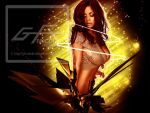 Brenda Sexy in Gold by gfx-micdi-designs