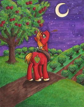 Nighttime at the Orchard by CatScratchPaper