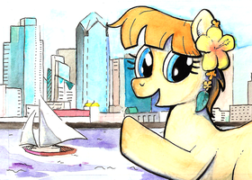 Pacific Pony Con in Watercolor by BrownWolfFM