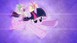 Spike and Twilight Flight by Game-BeatX14