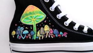 Glow in the Dark Painted Shoes Custom Converse by Ceil