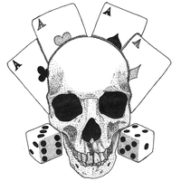 Tattoo 2 - Skull with aces and dices by Yami19
