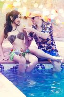 Pool Party Nidalee and Pool Party Lee Sin by Elifissa