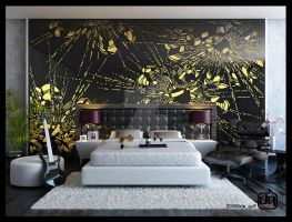 Laser Cut Bedroom by deguff