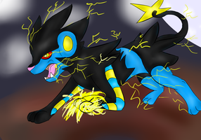 Luxray used thunderpunch! by BT-fabulouscatlord