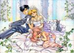 Usagi wedding with Tuxedo Mask by meomeoow