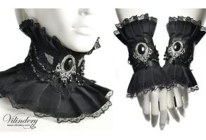 Goth Victorian jewelry set by vilindery