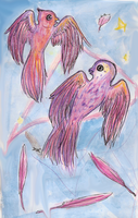 Pink owls. by Astrikos