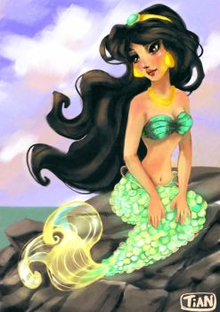 Jasmine mermaid by mermaidfantasy