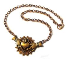 Steampunk Claddagh Necklace pic 2 by JLHilton