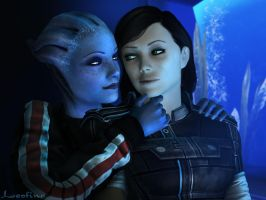 Liara x Melody by Leo-Fina