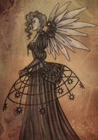 Steampunk Angel by ArunaWolf