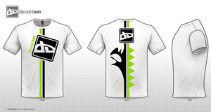 T-shirt white_green by nyolc8