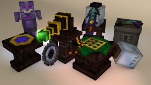 Cinema 4D Thaumcraft Moddels by TheCubicBros