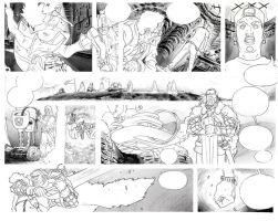 The Key Saga page 1 pencil by ChaseConley