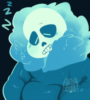 sleepy sans by dongoverlord