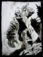 NYCC Hellboy Commish by MaxRomanchak