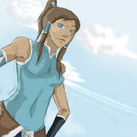 Korra Sketch by tylee-fan