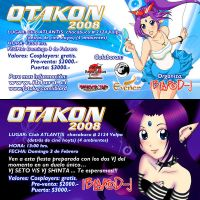 Otakon 2008 flyers by Cowboy-Fresh