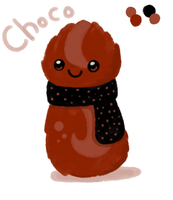 Choco the scarfblob by to-much-a-thing