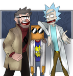 The precious scientist and.. that asshole by Twitchy-Senpai