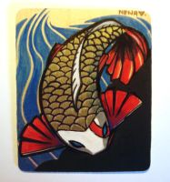 Koi on Wood 4 Ebay by nedashi