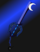 Night Fall (Luna Key blade) by aniamalman