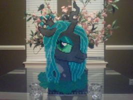 MLP Perler Flower Power Portrait: Queen Chrysalis by Perler-Pony