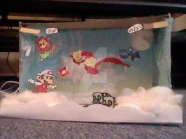 My Paper Mario Sticker Star Contest Diorama by MagicalVeronica