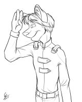 Kaid Lineart by spiritwolf77