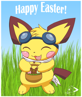 Sparks, the Easter Pichu by pichu90