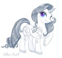 Silver Swirl Sketch by SoulscapeCreatives