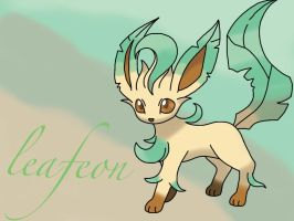 Leafeon background by Mouse200