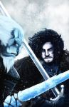 Jon Snow vs White Walker by JLoneWolf