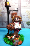 Off to the bakery handmade polymer clay doll by FairysLiveHere