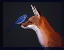The Bird and The Fox by ghostlysilver