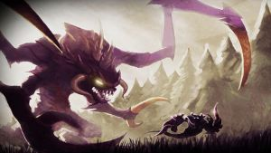 Cho'Gath Vs. Nocturne by LeagueWallpapers