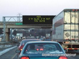 UGH...Highway Sign by MiAmoure