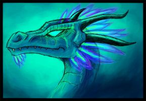 Dragon head thing by Pseudolonewolf
